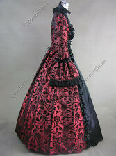 Gothic Victorian Period Dress Reenactor Gown Theatre Halloween Costume Punk 119