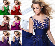 Formal Long Ball Gown Party Prom Bridesmaid Evening Dress Size in Stock 4-18