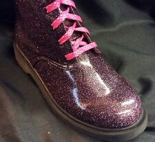 GILRS/TEENAGE METALIC SPARKLE FASHION ANKLE BOOT Size's 8-9-10-11-12-13-1-2-3-4