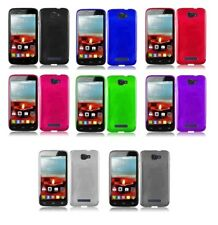 Alcatel One Touch POP ICON / A564C TPU Rubberized Skin Gel Case+Screen Protector
