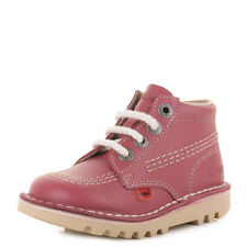 GIRLS INFANT KICKERS KICK HI BLOSSOM NATURAL LACE UP KIDS CASUAL BOOTS SIZE