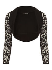 Jane Norman - Womens Lace Shrug Cropped Long Sleeve Open Front Ladies Cardigan