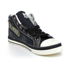 Arider MN-07 Man's Stone-Washed Denim High Top Lace Up Fashion Sneaker