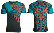Archaic AFFLICTION Men T-Shirt DAVENTRY Cross Wings Tattoo Biker UFC M-4XL $40 a