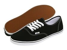 NEW WOMEN VANS AUTHENTIC LO PRO BLACK TRUE WHITE VN-0GYQ6BT SKATEBOARDING ORG