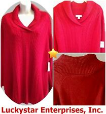 Coldwater Creek Demi Cable Sweater - Red - L, XL, 1X, 2X - NEW w/tags