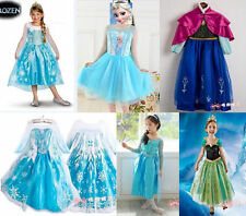 Hot sell Princess Anna Elsa Queen Girls Cosplay Costume Party Formal Dress 2-8Y
