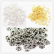 Gold / Silver / Tibetan silver Tone 4/6MM Snowflake / Daisy Flowers Spacer Beads