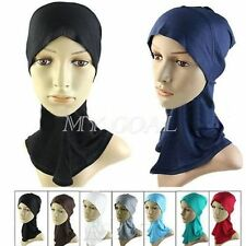 Muslim Cotton Hijab Underscarf Hat  Bone Bonnet Islamic Head Wear Cover Cap New