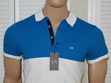Armani Exchange Colorblock Pique Stretch Polo Shirt Ocean NWT