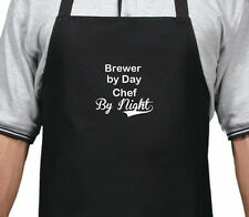 PERSONALISED BREWER BY DAY CHEF BY NIGHT APRON XMAS BIRTHDAY GIFT