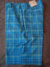 PUMA GOLF PLAID CELL RICKIE FOWLER SHORTS SIZE W 30 32 38 MEN NWT $70.00
