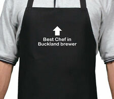 PERSONALISED BEST CHEF IN BUCKLAND BREWER APRON XMAS BIRTHDAY GIFT