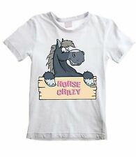 HORSE CRAZY KIDS UNISEX T-SHIRT - Pony Riding Jumping Childrens - All Sizes