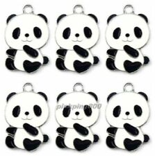 New China Panda Metal Charms Pendants Earrings Jewelry Make Party Gifts E19