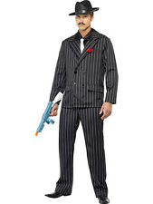 MENS PINSTRIPE GANGSTER ZOOT SUIT COSTUME 1920s 30s MOBSTER FANCY DRESS COSTUME