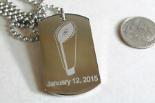 2015 NCAA FOOTBALL CHAMPIONSHIP TEAM SPIRIT SOLID STAINLESS STEEL DOG TAG