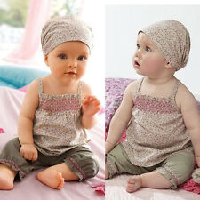 Toddler Baby Infant Clothes Girl Kids Top+Pant+Headband 3Pcs Outfit Set FT228