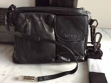 NEW RUDSAK BLACK LEATHER CROSSBODY BAG PURSE HANDBAG CLUTCH UNIQUE