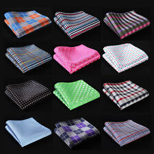 CF Check Men Silk Satin Pocket Square Hanky Wedding Party Handkerchief