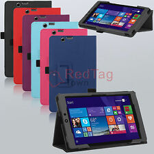PU Leather Folding Folio Stand Case Cover Skin for Nextbook 8 Windows 8.1 Tablet