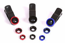 Universal 3in1 Fisheye Wide Macro Mobile Cell Phone Camera Lens Clip - 3 Colors