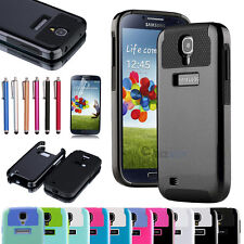 Rubber Hybrid Armor Impact Defender Skin Case Cover for Samsung Galaxy S4 i9500