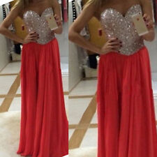 New Long Formal Evening Prom Party Dress Wedding Bridesmaid Dresses Ball Gown