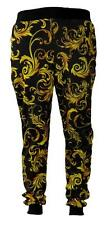 New Kayden K Yellow Floral Leaf Sublimation Print Stretchable Joggers S-XL