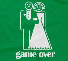GAME OVER T-SHIRT marriage bride groom wife husband bachelor party bachelorette