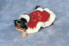 Red Medieval Queen Cape Pet Animal Clothing Accessory Halloween Costume NEW