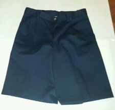 Boys Chaps Brand Navy - Khaki Shorts Pleated Front C861023H Size 14 16 Husky
