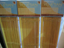 STOCK CLEARANCE ON NEW NATURAL PREMIER WOODEN VENETIAN BLINDS