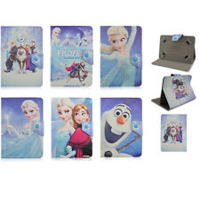"New 7"" 8"" 10"" Universal tablet case Cartoon Frozen Elsa Anna PU Leather cover"