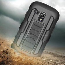 Armor Hybrid Holster Hard Stand Case Cover For Samsung Galaxy S3 Mini i8190+Film