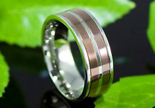 Two Tone Stainless Steel Spin Men Ring MR111