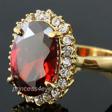 5 Carat Red Simulated Ruby Ring use Swarovski Crystal Size 6, 7, 8 - SR165
