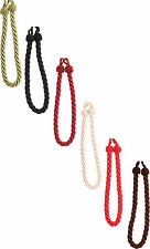 Twisted Cord Curtain Thick Rope Tie Backs - Holdbacks Black Cream Red Chocolate