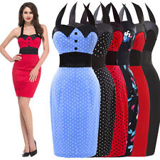 PLUS RED Vintage Retro Polka dot Swing 50's 60s Housewife Pinup Rockabilly Dress