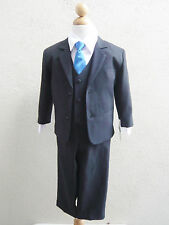 Boy Black royal navy pool turquoise blue apple mint green tie formal suit party
