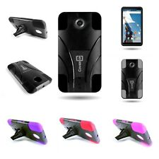 For Motorola Google Nexus 6 Case  Plastic + Silicone Hybrid Cover With Kickstand