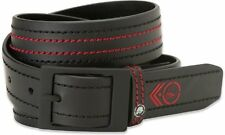 Metal Mulisha Daily Belt Black with Contrasting Red Logo Stitch Removable Buckle