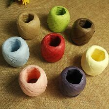20m Raffia Paper Ribbon 7mm decorating flowers gifts crafts scrapbooks