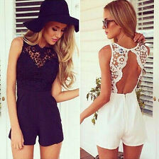 Women Sexy Celeb Lace Playsuit Party Evening Summer Ladies Dress Shorts Jumpsuit