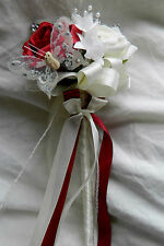 Stunning wedding flowers Bridesmaids/flower girl posie butterfly wand