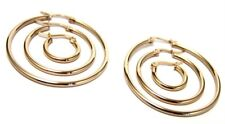 Hoop Earrings Yellow Gold PVD Hypoallergenic Surgical Steel 3 Sizes Offered