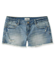 Aeropostale Womens Shorty Tattered Casual Denim Shorts