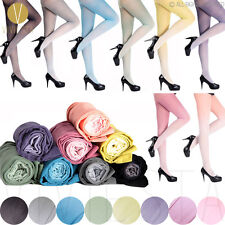 GRADIENT COLOR OPAQUE TIGHTS 30D Girls' Fashion Trend Cute Sexy Sheer Pantyhose