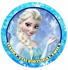 FROZEN Elsa Disney Edible Image Icing Strips Sides Birthday Cake Topper