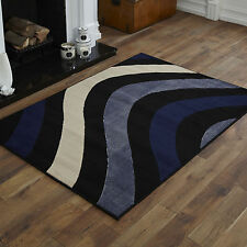 NEW BLACK BLUE CREAM CURL PATTERN SMALL MEDIUM LARGE X LARGE CHEAP SOFT RUGS